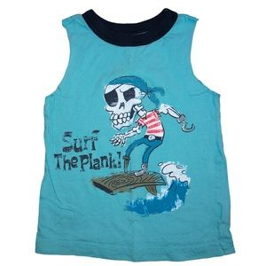5/$25 🔴 Blue Pirate 🏴‍☠️ Surf The Plank Tank Top